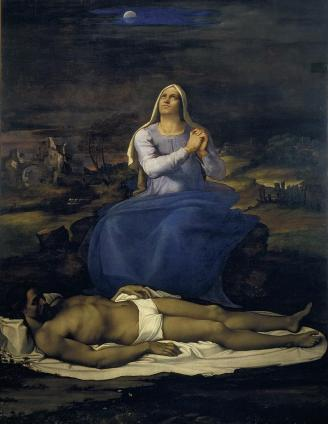 'Lamentation over the Dead Christ', Sebastiano (1512-1516)