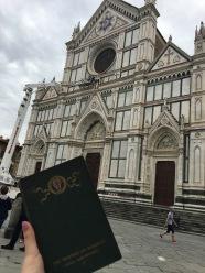 Santa Croce with my Victorian Art Guidebook