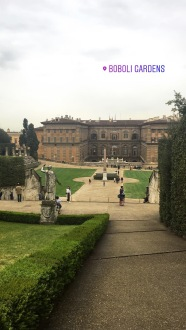 View of Palazzo Pitti from Boboli Gardens