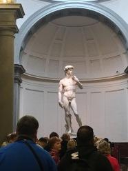 Michelangelo's 'David' at the Galleria dell'Academia